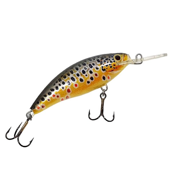 MINNOW BROWN TROUT GOLD M